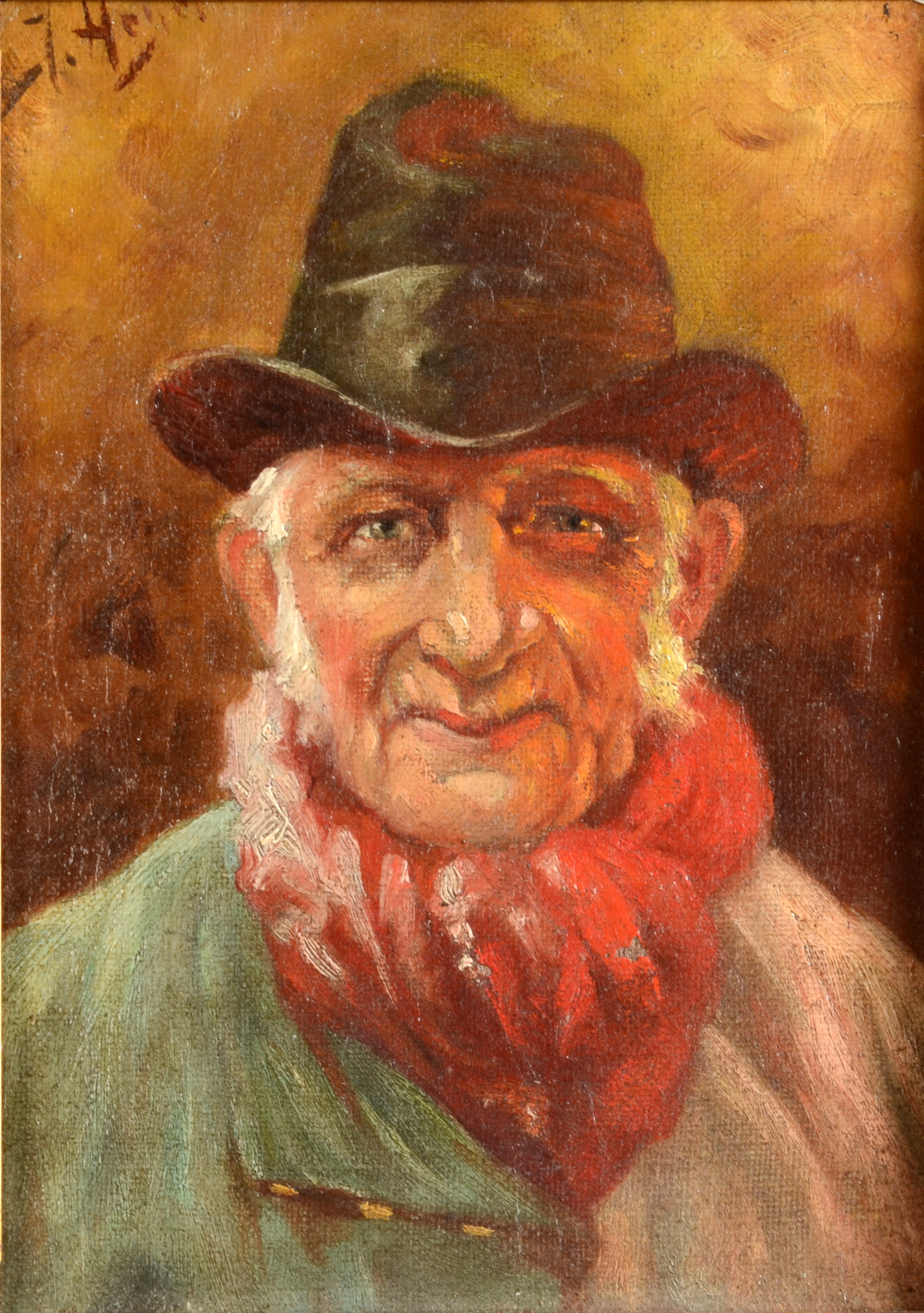 Lot 8 - Portrait of a male Oil on canvas Indistinctly signed 21 x 15 cm