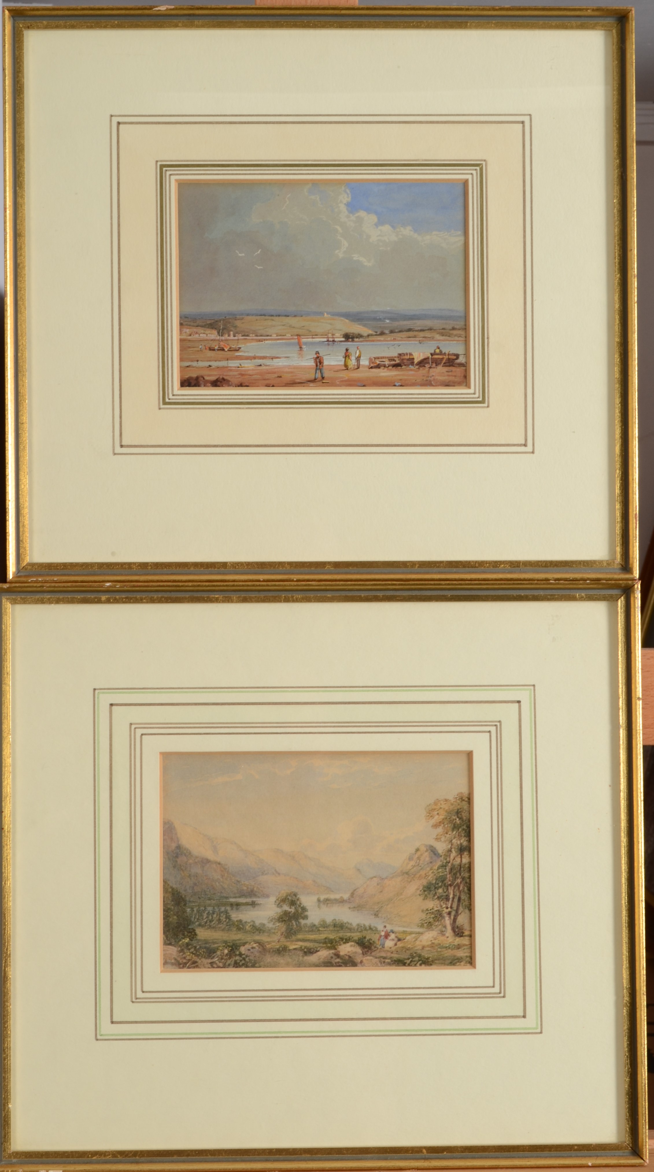 Lot 39 - CAROLINE WYATT On The Laira - Plymouth Watercolour Inscribed on the back Dated 1837 10 x 15