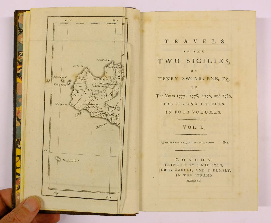Lot 53 - Swinburne (Henry). Travels in the Two Sicilies, in the Years 1777, 1778, 1779, and 1780, 4
