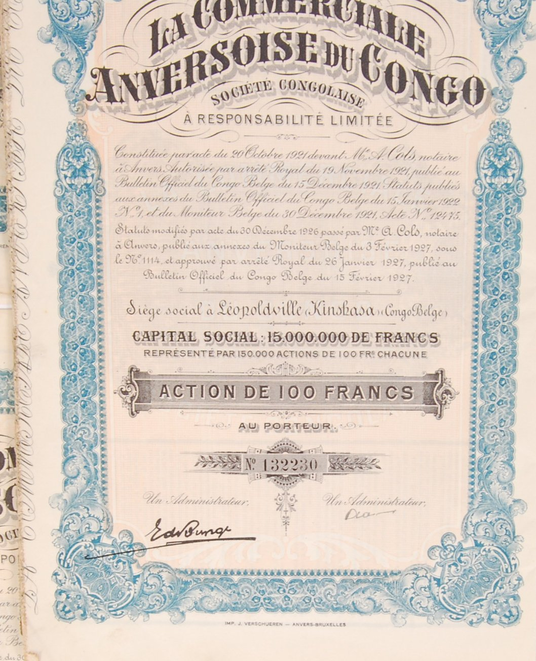 Lot 38 - CONGOLESE BONDS