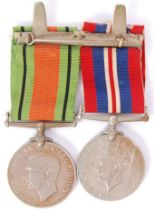 Lot 16 - WWII MEDAL PAIR