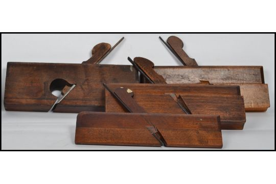 A Collection Of Vintage Woodworking Planes To Include A Plough Plane