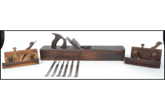 A Group Of Vintage 20th Century Woodworking Planes To Include A