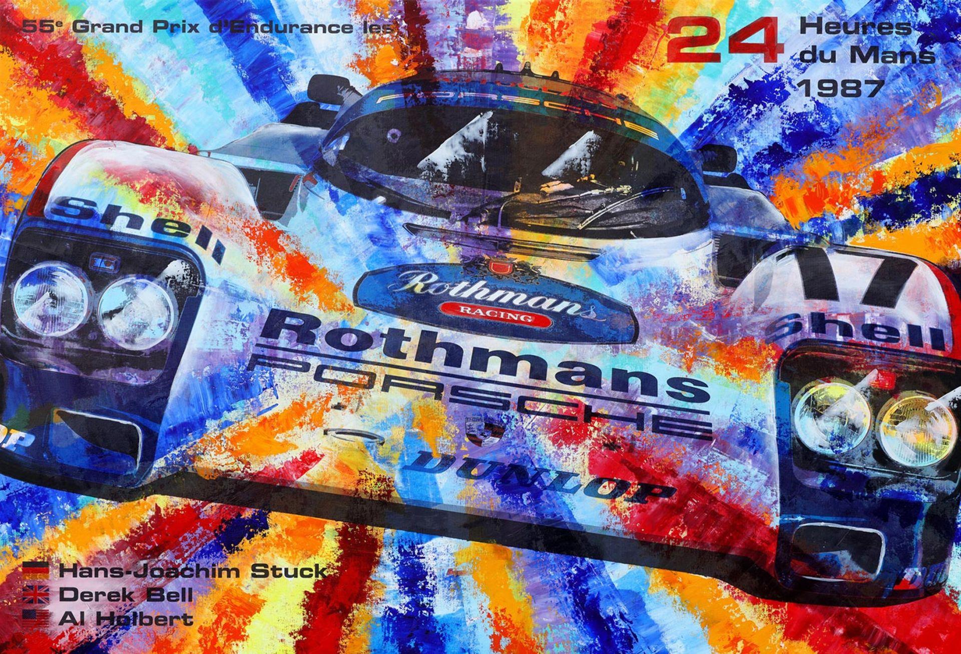 Los 2 - LE MANS 1987 Beschreibung Galeriepreis / Wert: 5280,00€ Popart-Kunstwerk Format: 160 x 110 cm auf 45