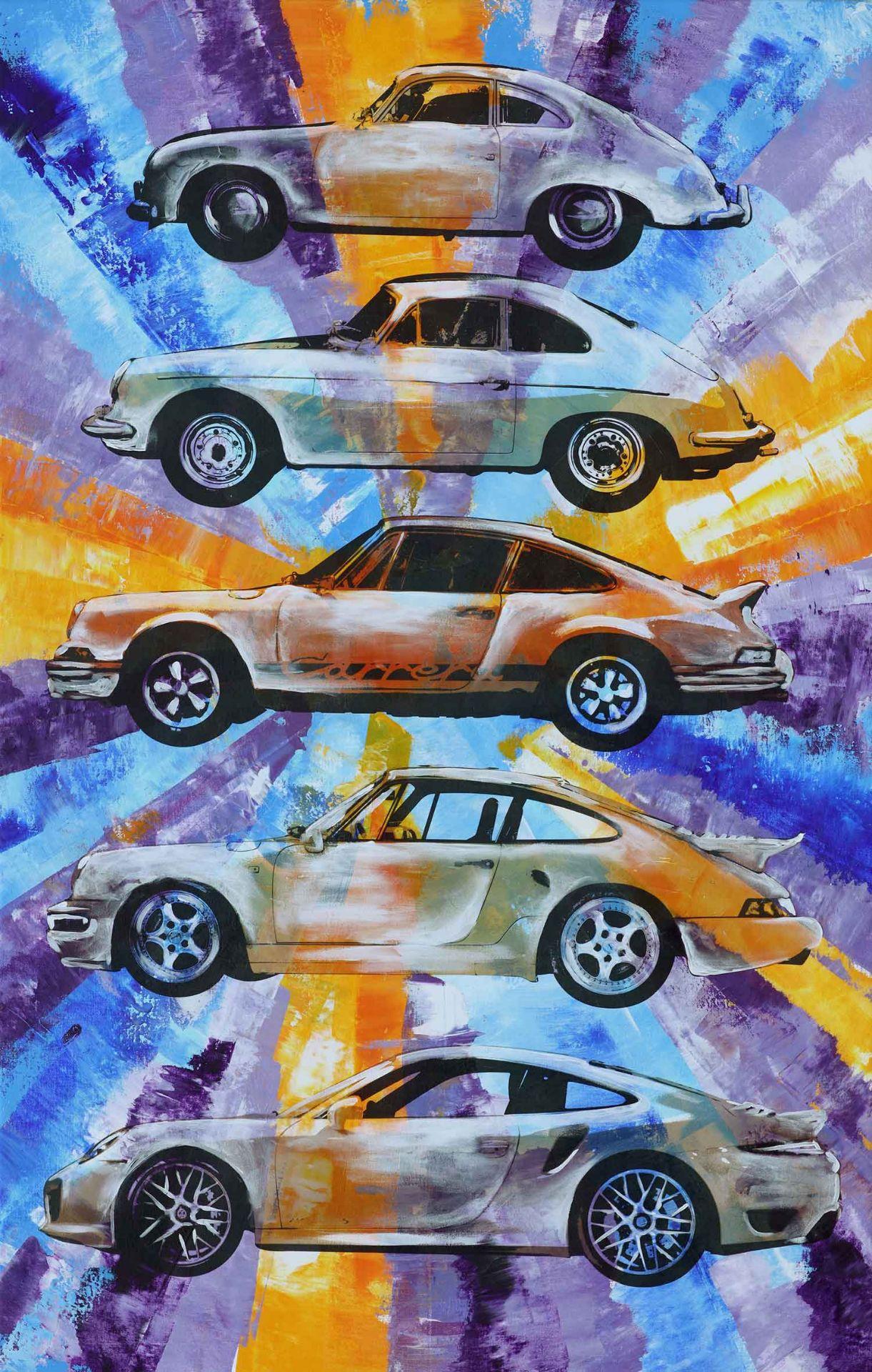 Los 3 - EVOLUTION Galeriepreis / Wert: 3780,00€ Popart-Kunstwerk Format: 90 x 140 cm auf 45 mm