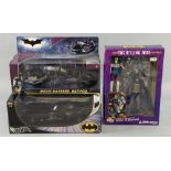 Batman - Hot Wheels Batmobile 1:18 scale Metal Collection, The Dark Knight Movie Masters Bat-Pod &
