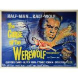 The Curse of The Werewolf (1960) British Quad film poster, Hammer Film Production, Horror directed