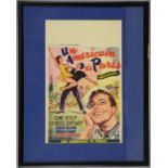 American In Paris (1951) Belgian film poster, starring Gene Kelly, MGM, framed, 14 x 22 inches