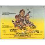 The Wild Geese (1978) British Quad film poster, starring Richard Burton, Roger Moore and Richard