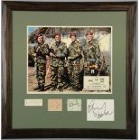 The Wild Geese (1978) US Lobby card along with four mounted signatures of the main characters,