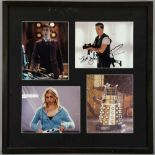 Doctor Who - BBC TV Series, a signed photographic montage with signatures by David Tennant, Billie