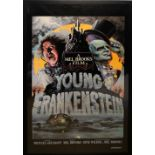 Young Frankenstein (1974) US Special poster, starring Gene Wilder, 20th Century Fox, framed, 30 x 49