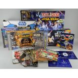 Star Wars Memorabilia including Collectors cards from 1977, Return of The Jedi Panini stickers,