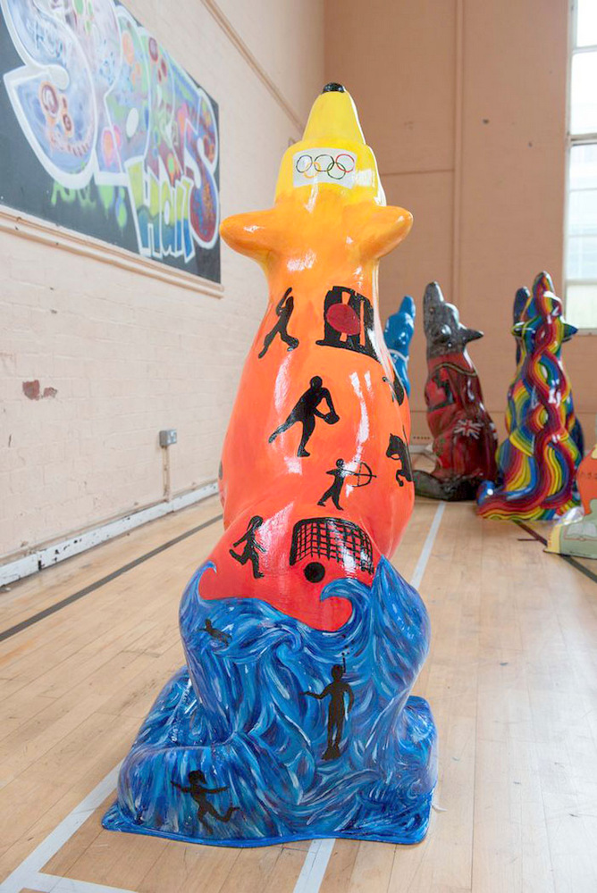 Lot 15 - Zeus Artist: Highfields School The initial inspiration for Zeus was to create a sports-inspired