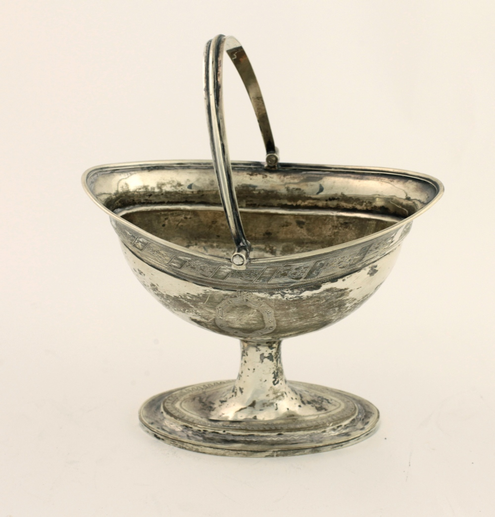 Lot 33 - A good late George III Irish silver Sugar Helmet, with ribbed swing handle,