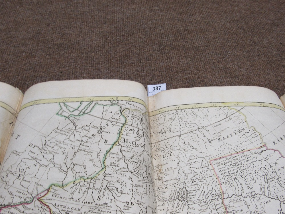 Lot 387 - With Fine Contemporary Hand-Coloured Folding Maps Atlas: Moll (Hermann) The World Described;