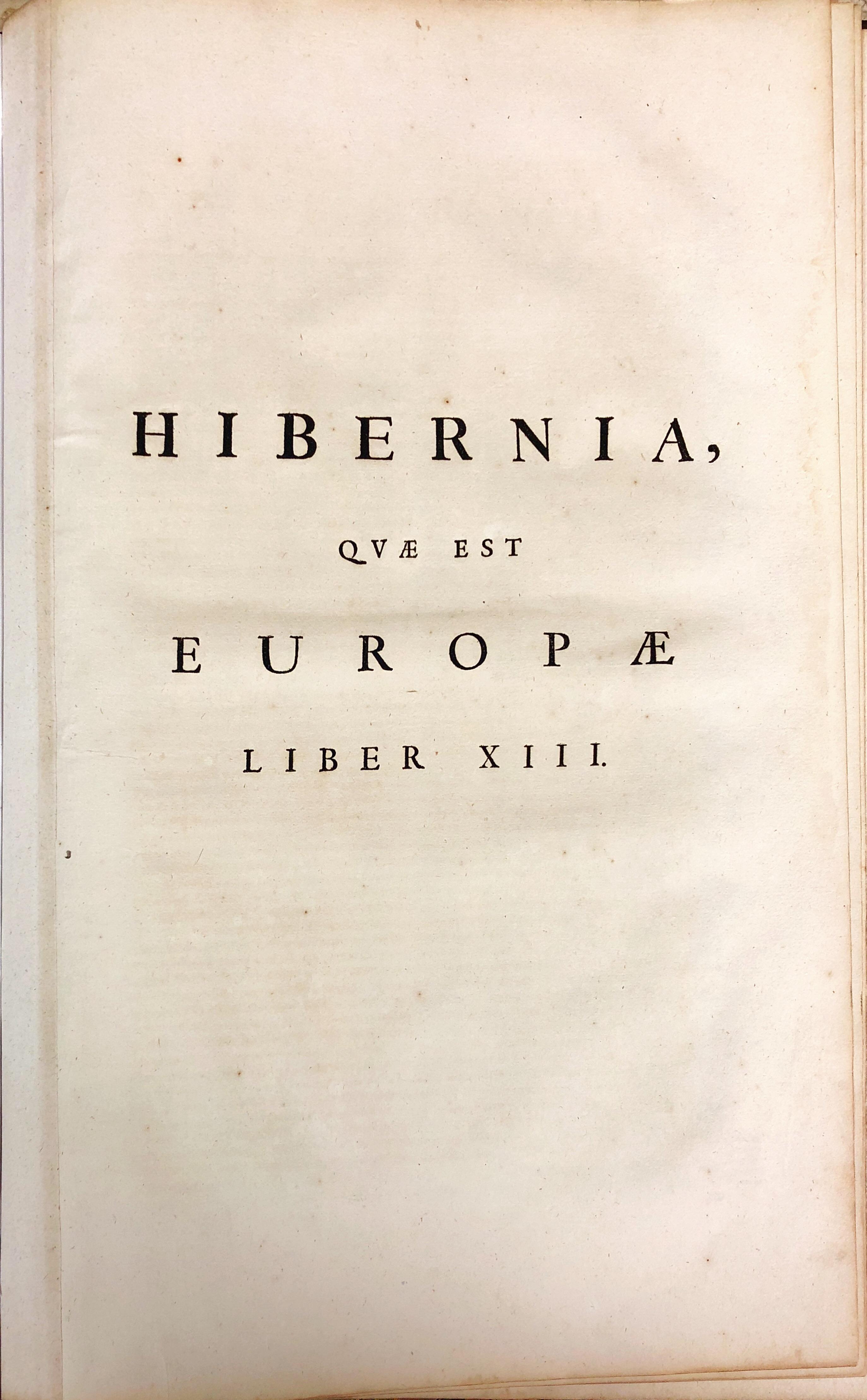 Lot 416 - Blaeu's Hibernian Atlas Blaeu (Johannes) Atlas Hibernia, Amsterdam? c. 1662.