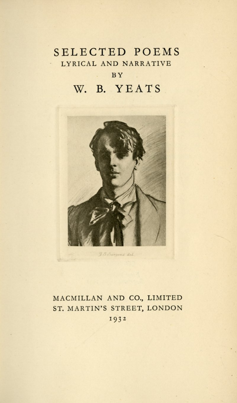 Lot 560 - W.B. Yeats Meets James Bond? Yeats (W. B.) Selected Poems, Lyrical and Narrative.