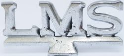 LMS cast and polished aluminium sign LMS as fitted to food/drink cabinets. In very good condition