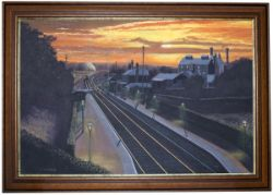 Original Oil Painting on canvas by S Anderson G.R.A. THE LAST OF THE DAY (location - Mistley, Essex,