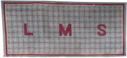 LMS carriage compartment rug with LMS in the centre, measures 72in x 32in. In good overall condition