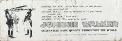 London Tramway card advertising panel measuring 24in x 8.5in JOHNNIE WALKER SCOTTISH WHISKEY.