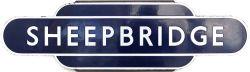 Totem BR(E) HF SHEEPBRIDGE from the former Midland Railway station