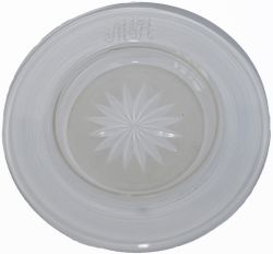 North Eastern Railway cut glass circular Bonbon dish clearly etched on the top NER. Measures 6in