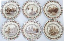 LNER china Cathedral Plates a full set of 6 of the first series consisting of: Durham, Norwich,