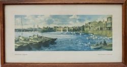 Carriage print BRIDLINGTON YORKSHIRE by F. Donald Blake from the LNER post war series. Framed and