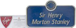 Nameplate SIR HENRY MORTON STANLEY ex Virgin Super Voyager Diesel Electric Class 221 No 221117.