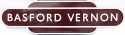 Totem BR(M) HF BASFORD VERNON from the former Midland Railway station between Nottingham and