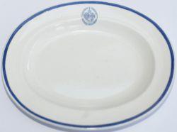 Lancashire & Yorkshire Railway china oval dish marked on the face LANCASHIRE & YORKSHIRE RAILWAY