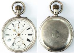 London and North Western Railway chronometer. In a hall-marked .925 silver case with London marks