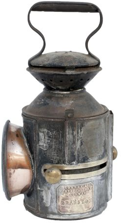 LNER GER 3 aspect sliding knob handlamp stamped in the reducing cone LNER and date coded for 1925.