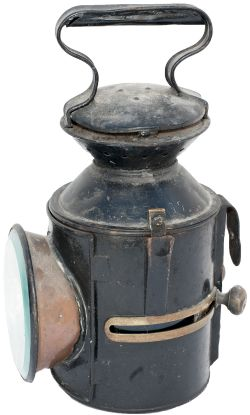 GER 3 aspect sliding knob handlamp stamped in the reducing cone GER WARE 17 and date coded for 1919.