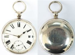 London Chatham and Dover Railway Guards Watch No 129. In a hall-marked silver case with Birmingham