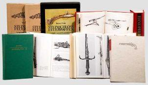 Sammlung von Standardwerken zum Thema Feuerwaffen Hayward J.F., Die Kunst der alten Büchsenmacher.