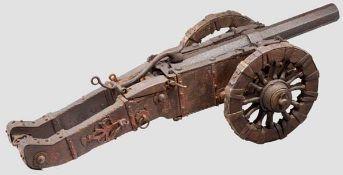 Modell-Geschütz, deutsch, 17. Jhdt., unter Verwendung eines späteren Perkussionslaufs