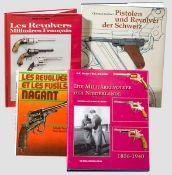 Vier Bücher zu Revolver verschiedener Länder Feys, Claude, Les revolvers et les fusils Nagant, 1982,