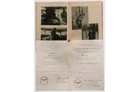 Leutnant Berthold Abel - Dokumentengruppe Lappland/Mienenräumdienst ...