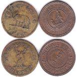 Ceylon 1848 Token - Wekande Mills, George Steuart & Co/ Ceylon, date at Centre, rev Native
