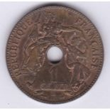 French Indo-China 1903A Cent, Km 8, Unc with lustre