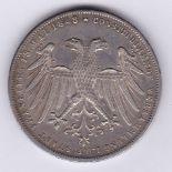 Austria 1848 2 Gulden, KM 338 Silver, AUNC