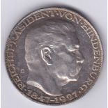 Germany 1847-1927 Hindenberg Silver Medallion, UNC - a beautiful item