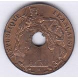 French Indo-China 1938A Cent, KM 12.1, BUNC