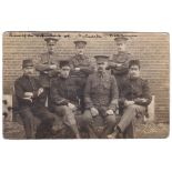 WWI 'Defence of Antwerp' Dutch, French, RMLI etc RP card group of seven - all named on the back.