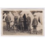 Notts & Derby Regiment Fine RP group of five soldiers, three riflemen, two buglers - good card