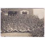 Middlesex Regiment WWI Full Company RP card - used later in 1927. Fine card