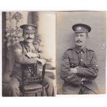 Norfolk Regiment WWI-two sergeants-fine RP images(2)